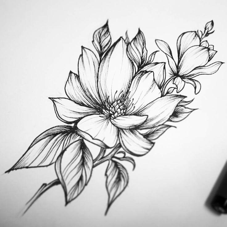 его картинки цветы для татуировок этом случае