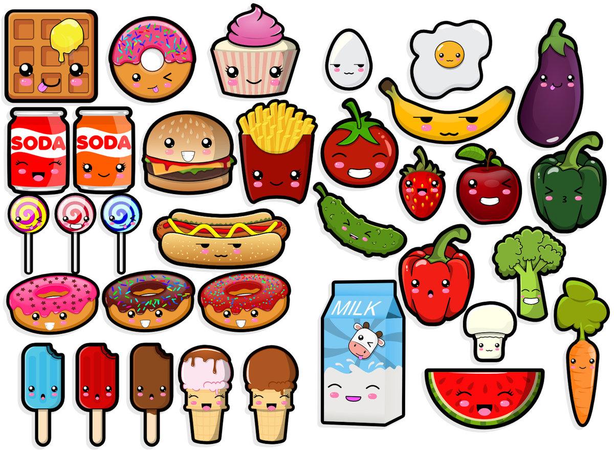 Рисунок с глазами еда