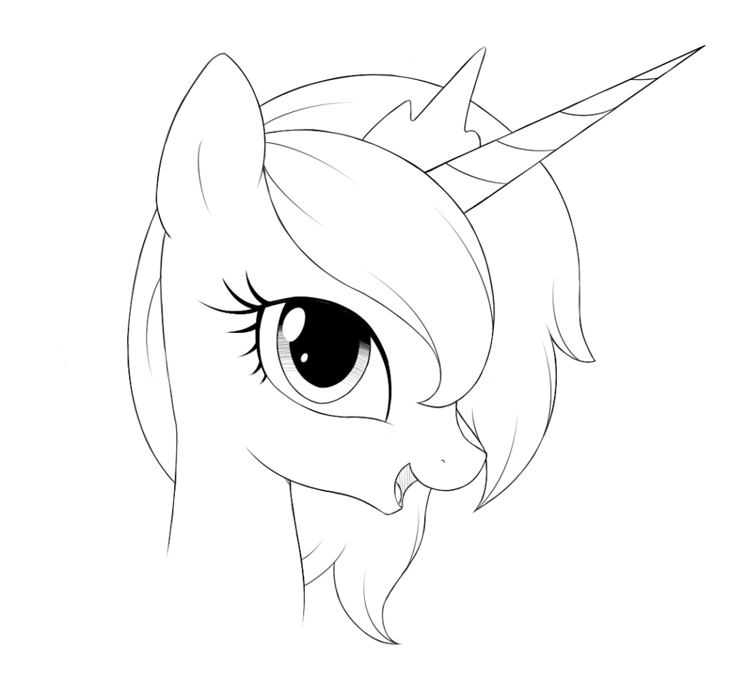 Рисунки пони для срисовки, Дружба - это чудо