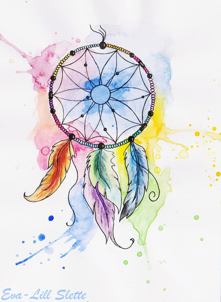 Нарисованные картинки ловец снов