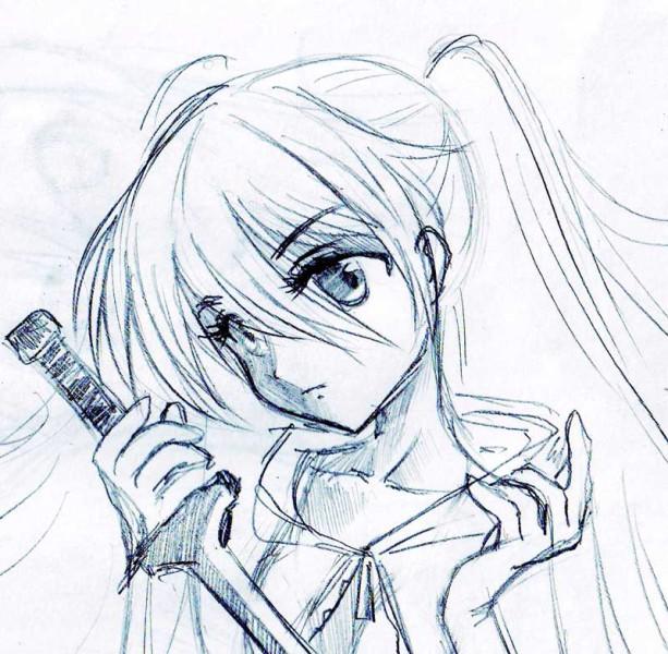 Крутые рисунки аниме для срисовки, зима
