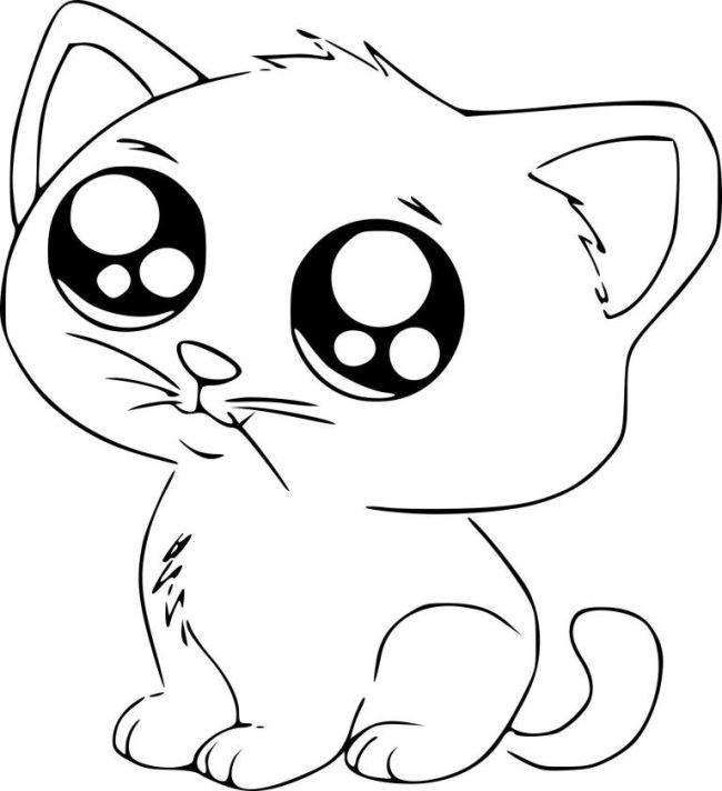 Картинки котов для срисовки легкие, поздравления новом