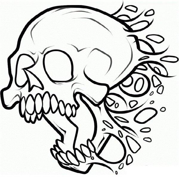 Крутые картинки для срисовки черепа
