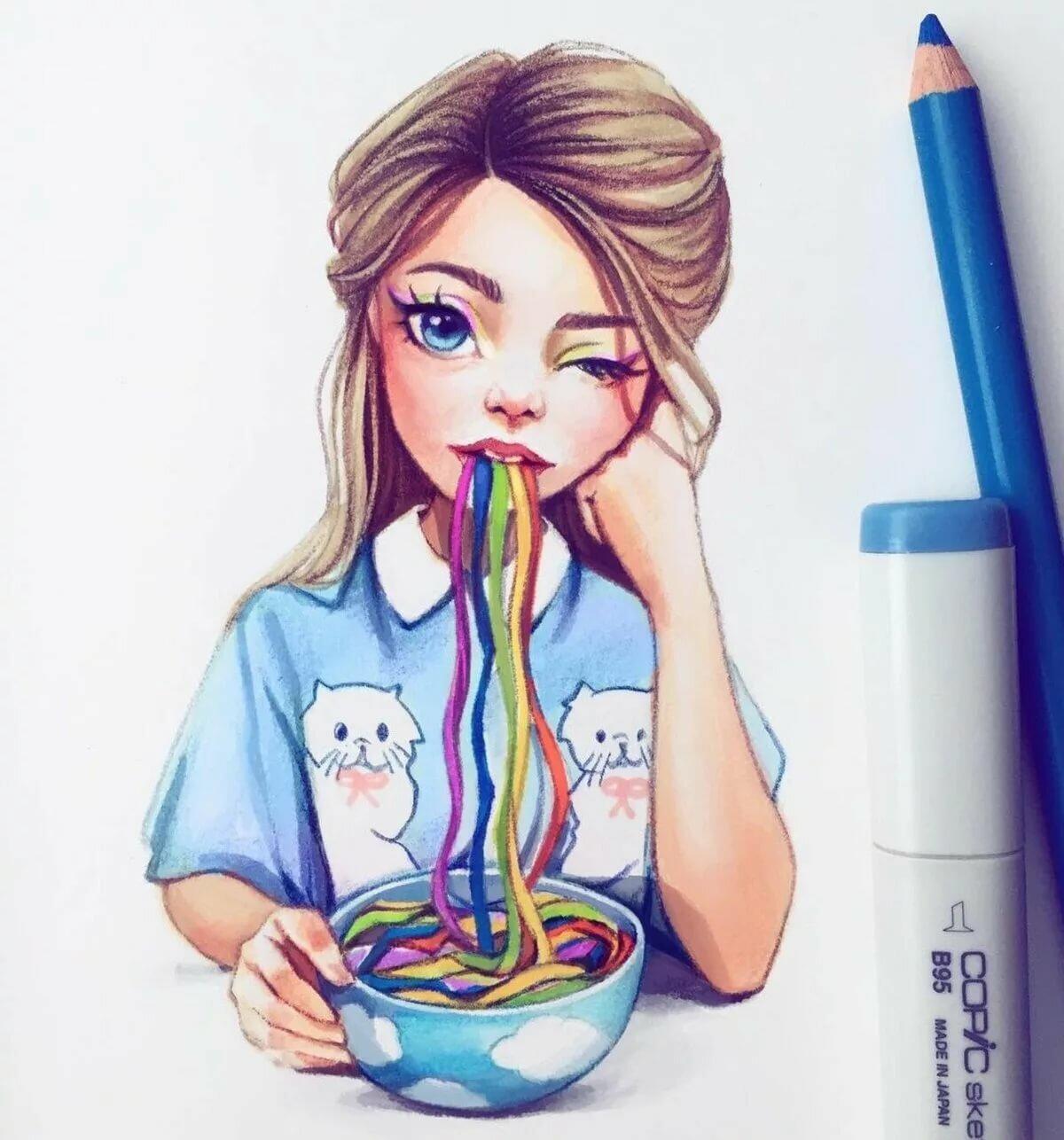 Твоя, рисунки для срисовки для девочек 10 лет карандашом крутые и легкие