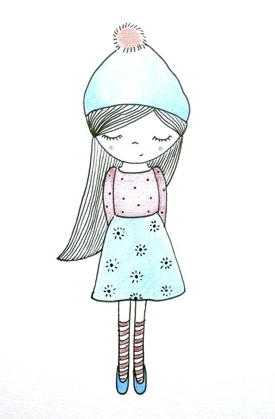 Картинки для рисования для девочек легко