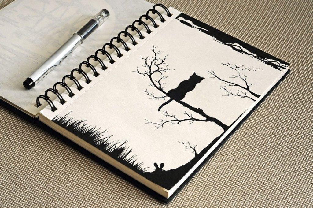 Прикольные рисунки для скетчбука, открытки