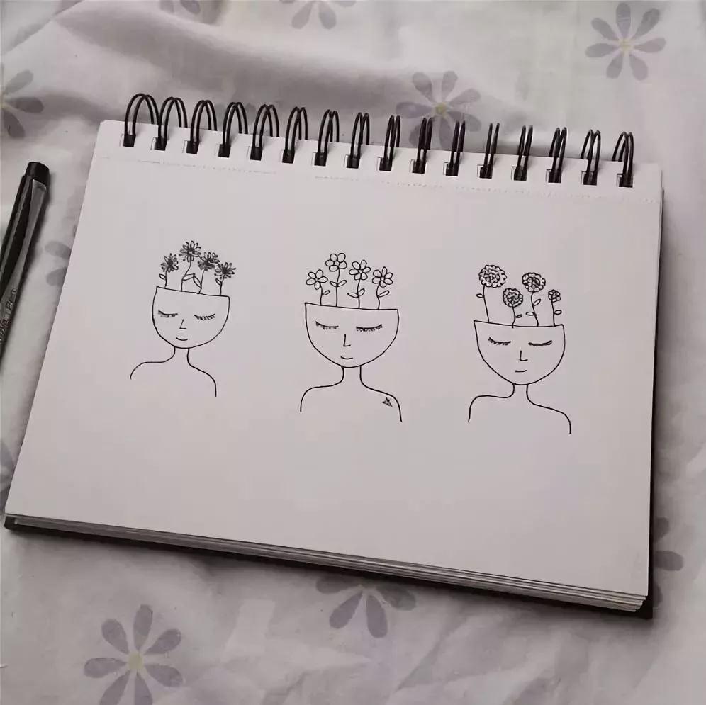Новым, рисунки для срисовки легкие и красивые картинки для скетчбука