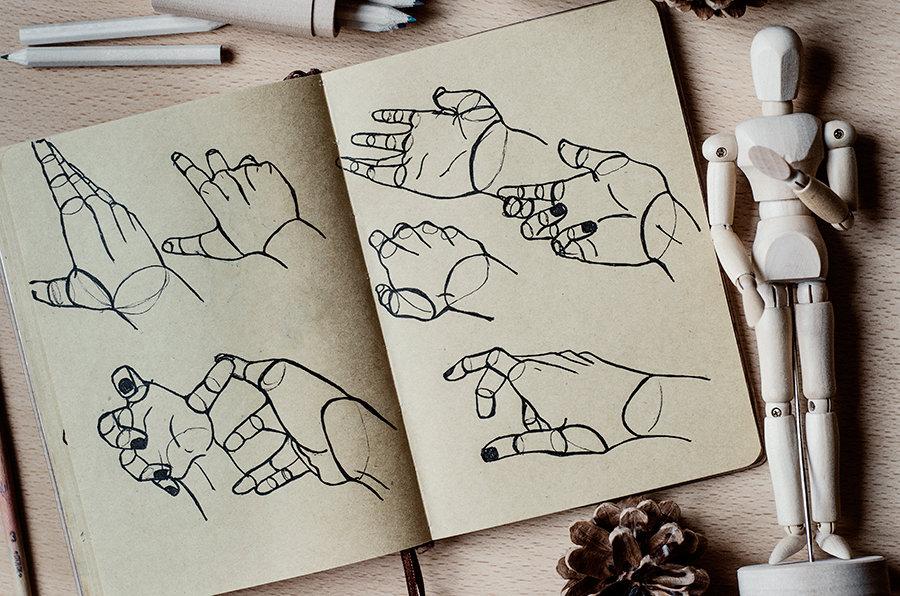 Прикольные картинки для срисовки в скетчбук простые