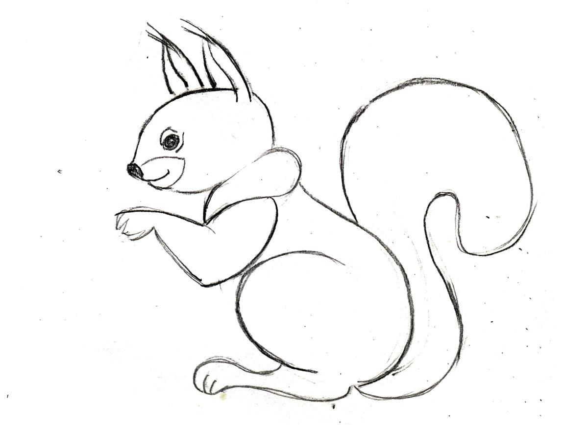 Картинка животные для срисовки