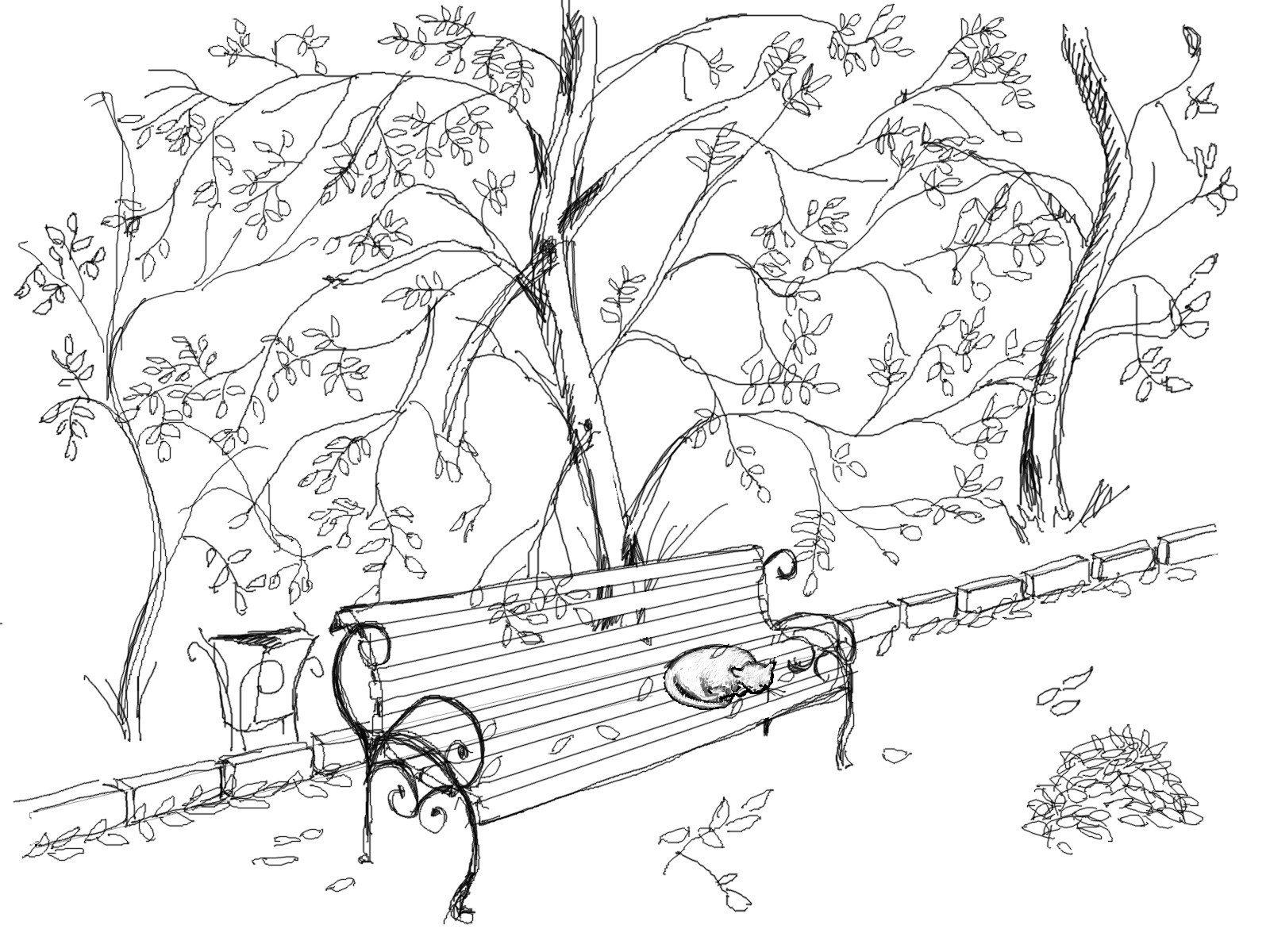 Картинки пейзаж осень для срисовки