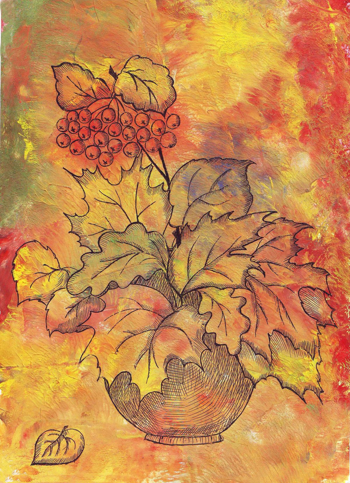 Осенний картинки для срисовки, картинки