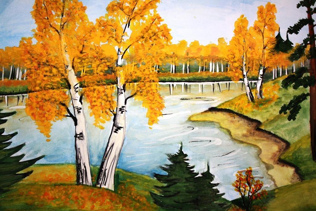 Осенний картинки для срисовки