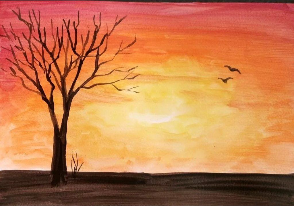 Картинки для срисовки пейзажи