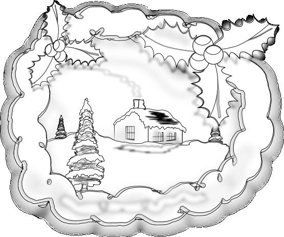 Рисуем рождественскую открытку