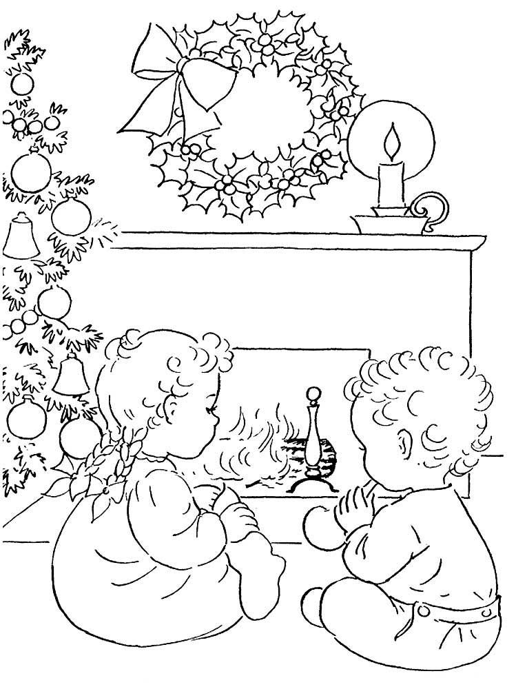 Нарисовать рождественскую открытку карандашом
