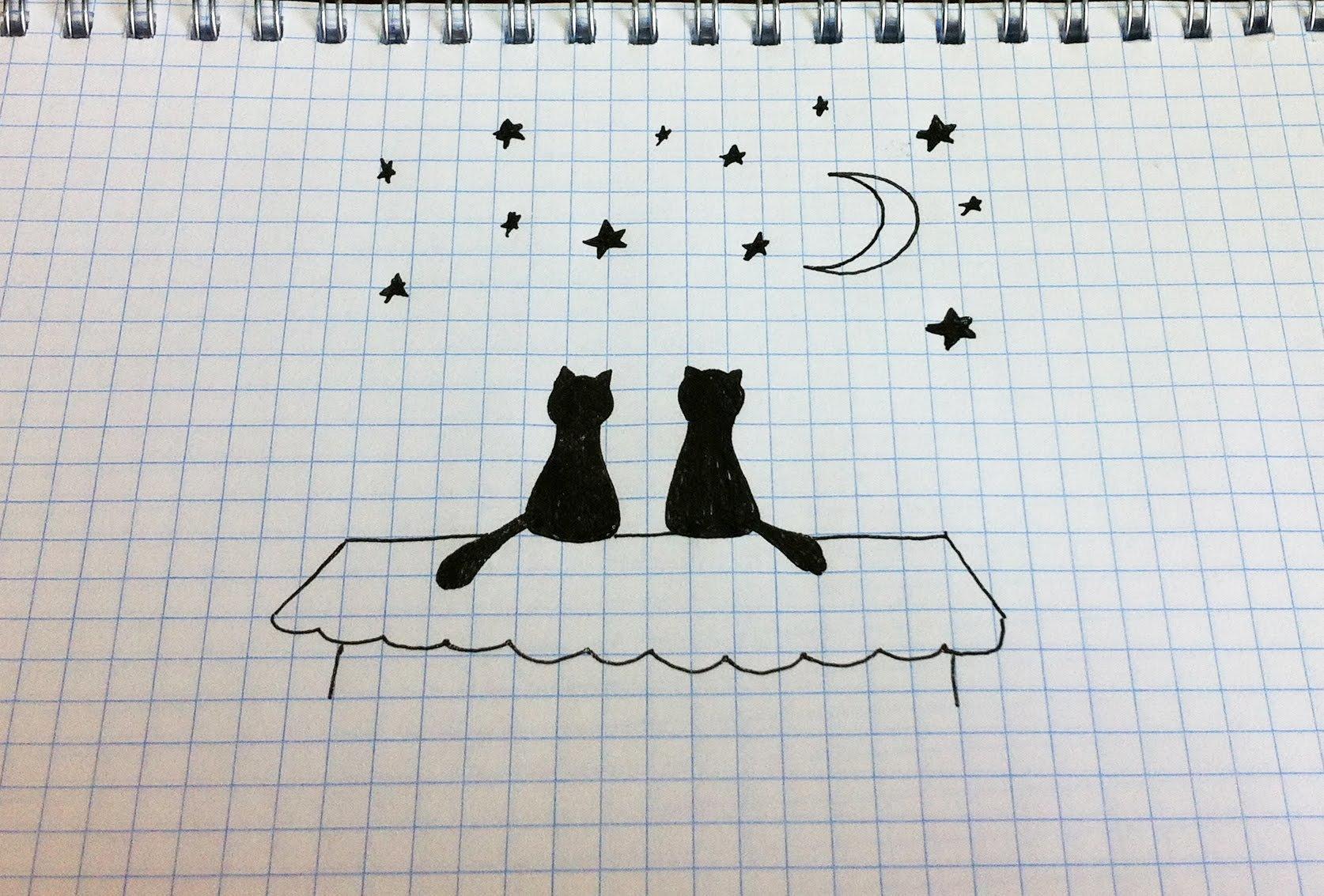 Картинки для срисовки карандашом в тетрадь