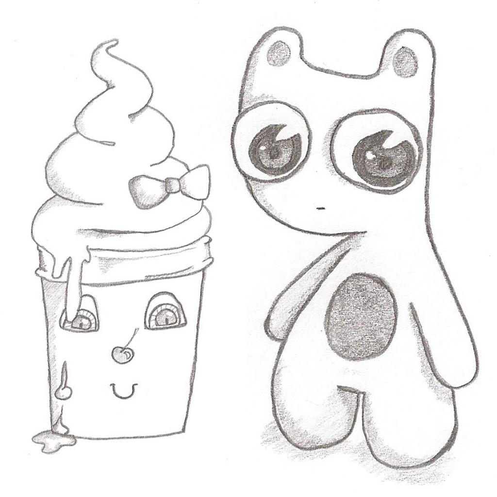 Смешные картинки для срисовки маленькие