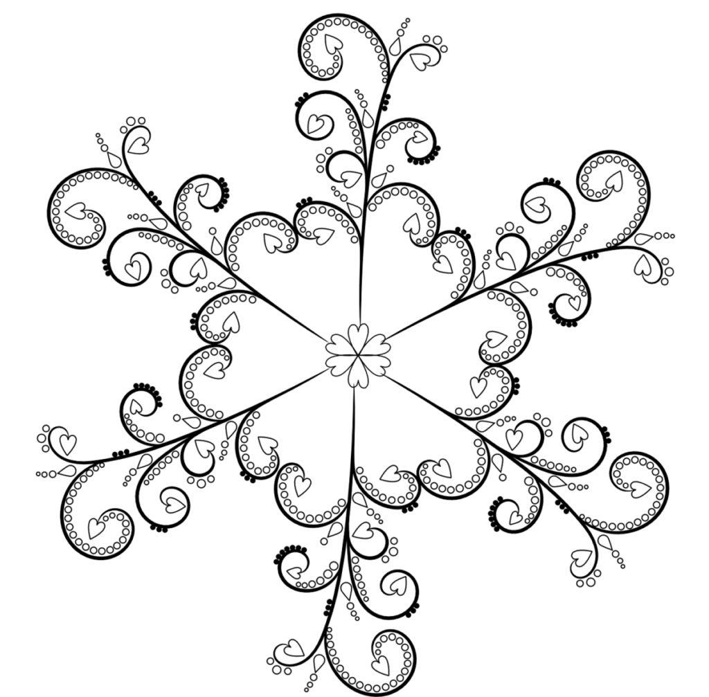 голове картинки снежинки к новому году нарисовать них