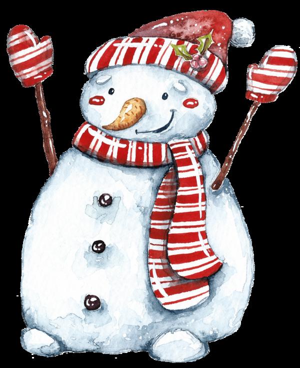 Красивый снеговик картинка для срисовки