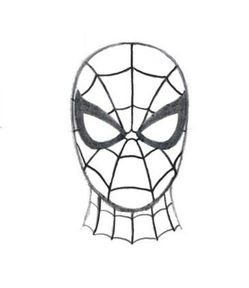 лицо человека паука картинки нарисовать можно