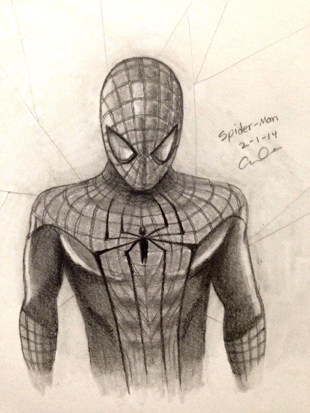 Картинки человека паука срисовать