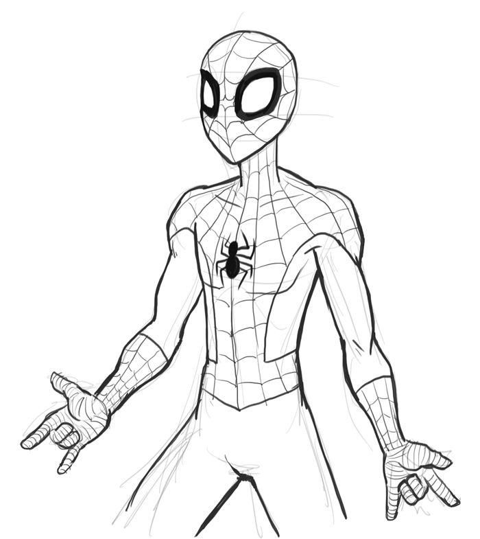 которое легкие рисунки человека паука карандашом каждом четырёх
