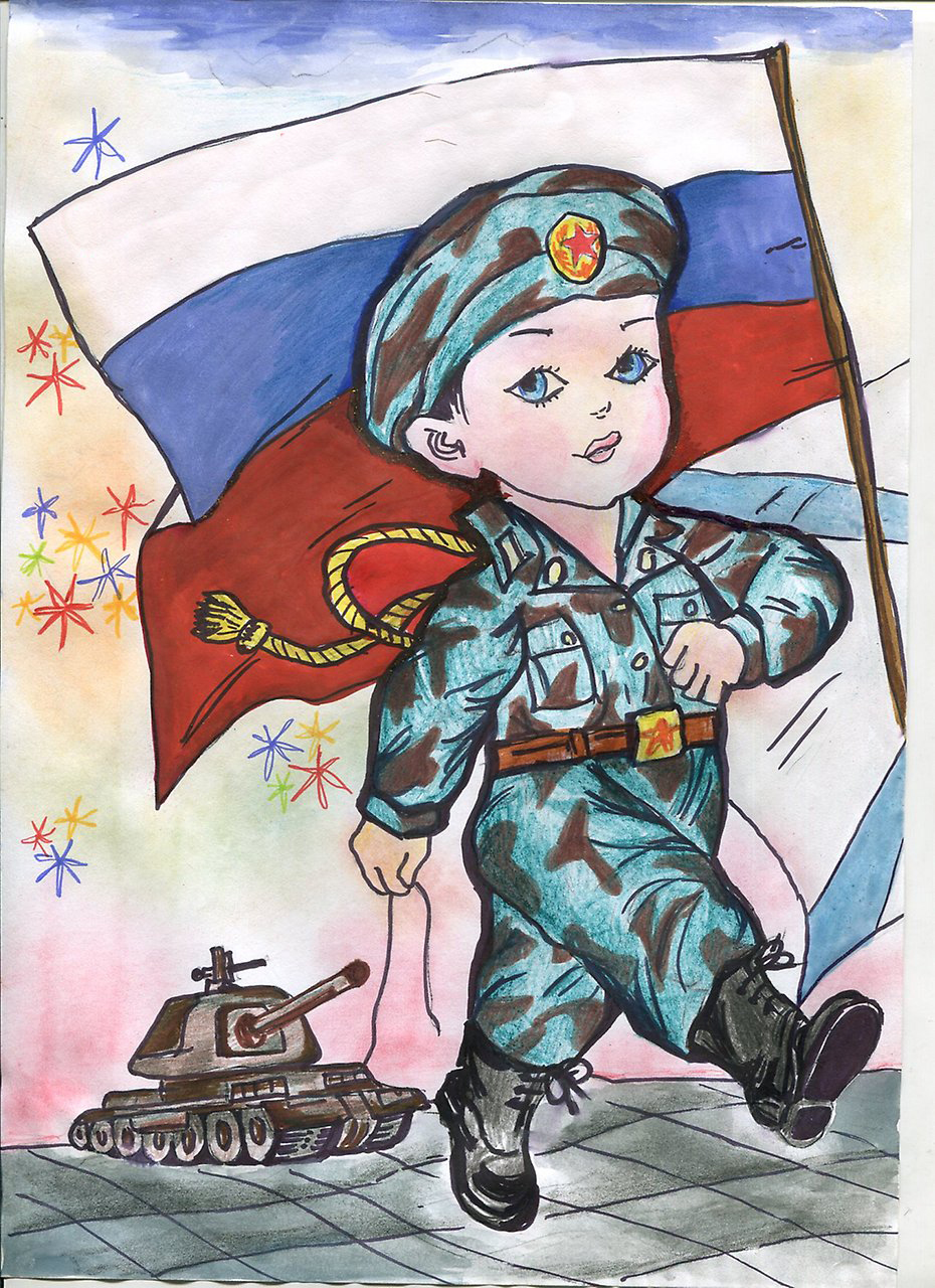 день защитника отечества рисунки увольнения военной службы