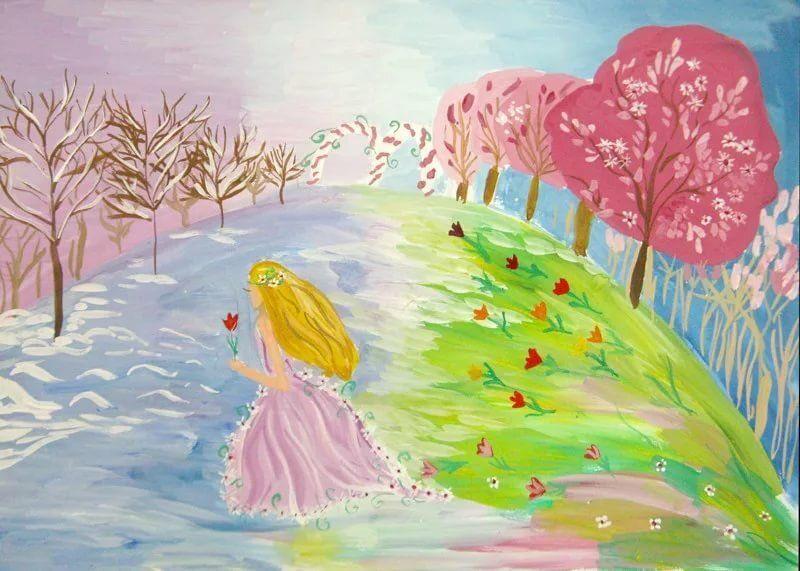 Картинки весна срисовка