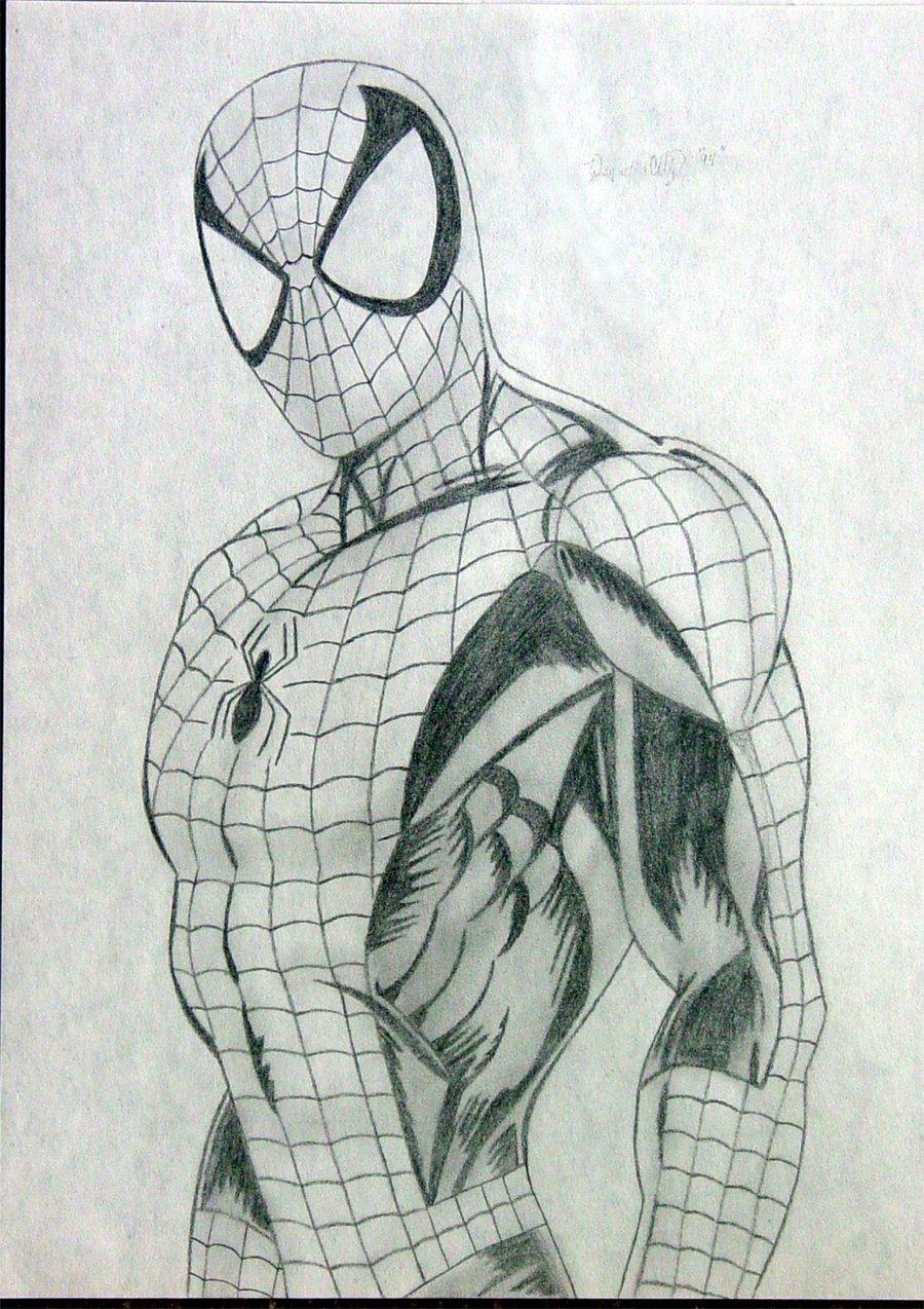 этом открыть рисунки карандашом человек паук легко правило